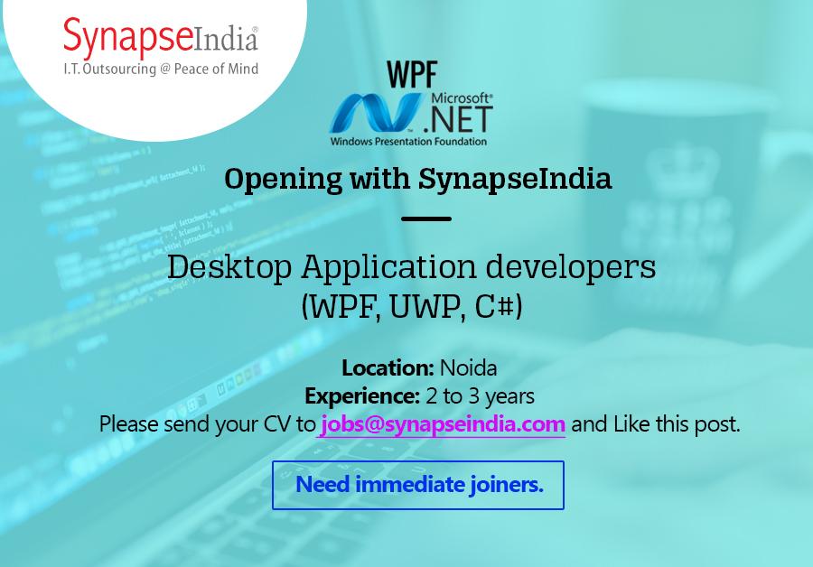SynapseIndia Jobs for .net