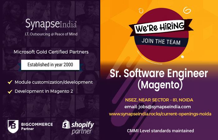 SynapseIndia Recruitment For Senior Software Engineer(Magento)