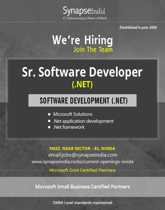 SynapseIndia Recruitment - Sr. Software Engineer( dot net)