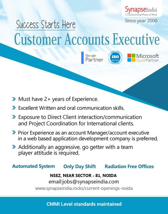 SynapseIndia Jobs - Customer Accounts Executive