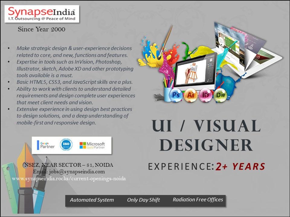 SynapseIndia Jobs - UI / Visual Designer